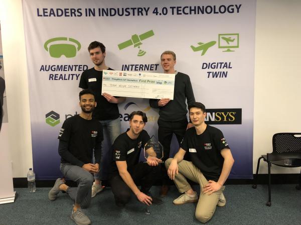 Team Supernova - first place winners at the RMIT IoT/AR Hackathon